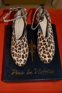 Pour La Victoire pony-hair leopard print wedges, size 6