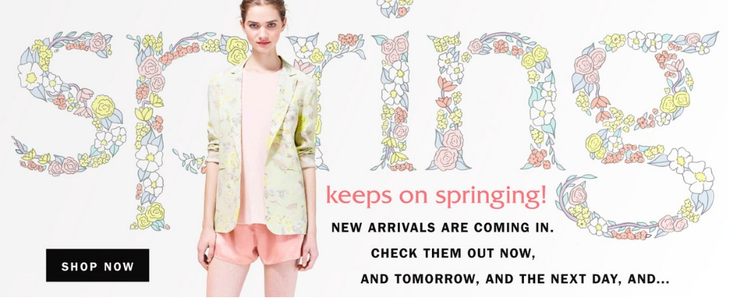 Spring has spring at Aritzia!