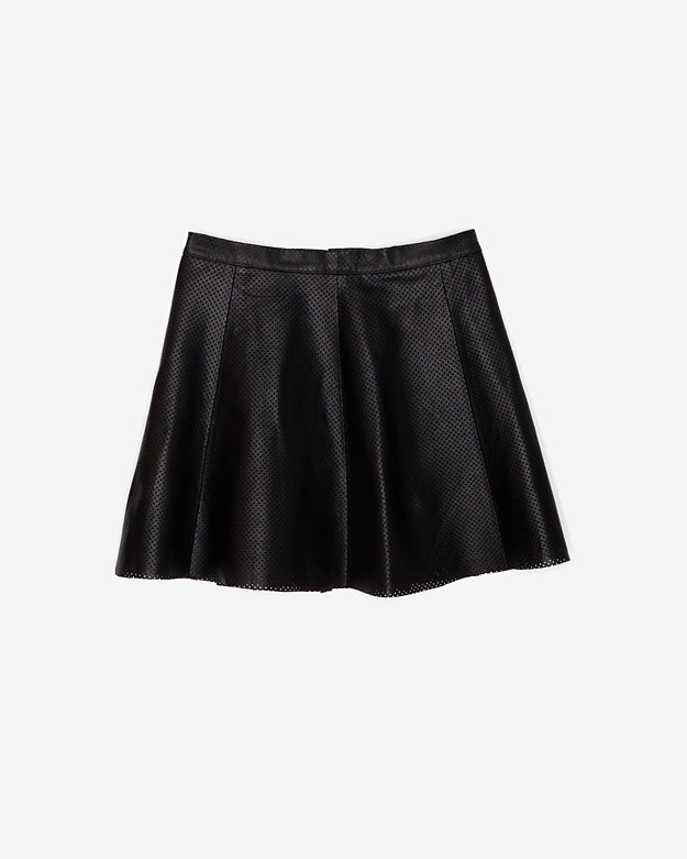 Love Leather A-Line Skirt