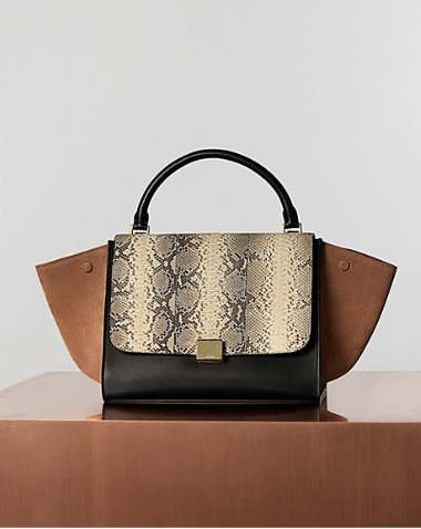 Celine Trapeze in Python Light Blush