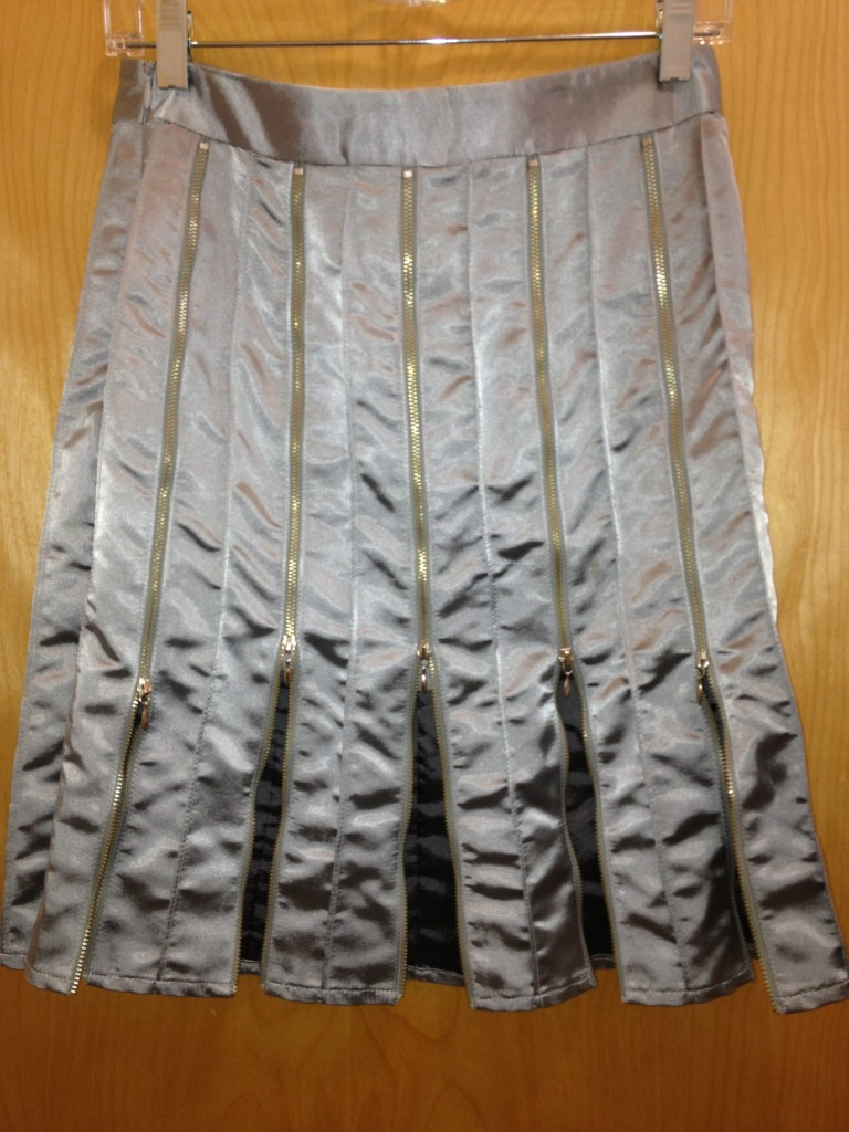 Andy Th-Anh, zipper panel skirt, $300