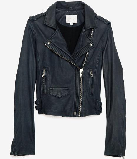 Iro Han Moto Jacket, Navy