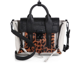 3.1 Phillip Lim Mixed-Media Pashli, Leopard